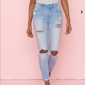 Garage Light Blue Ripped Jeans (Size: 0)